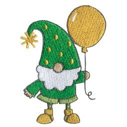 Boy Gnome Holding Balloon