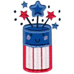 Applique Patriotic Fireworks
