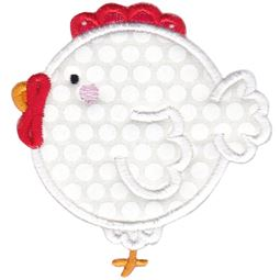 Round Rooster Applique