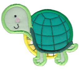 Round Turtle Applique