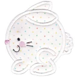 Round Bunny Applique