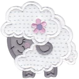 Round Sheep Applique
