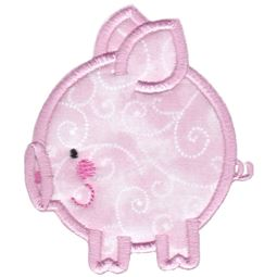Round Pig Applique
