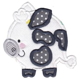 Round Cow Applique