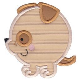 Round Dog Applique