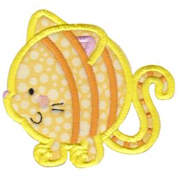 Round Cat Applique