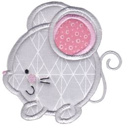 Round Mouse Applique