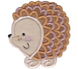 Round Hedgehog Applique