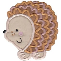 Round Hedgehog Applique