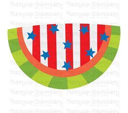 Patriotic Watermelon SVG