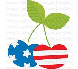 Patriotic Cherries SVG