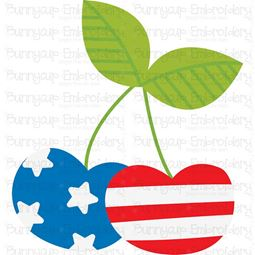 Patriotic Cherries SVG