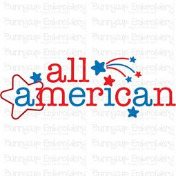 All American Word Art SVG