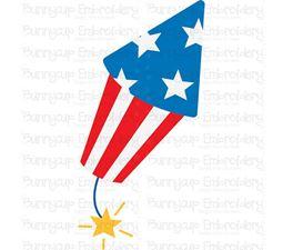 Patriotic Firecracker SVG