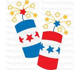 Pair of Patriotic Firecrackers SVG