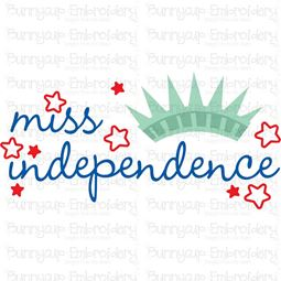 Miss Independence SVG