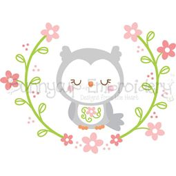 Owl Laurel SVG