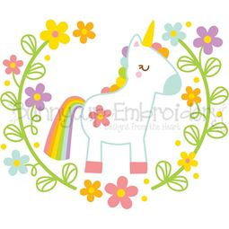 Unicorn Laurel SVG