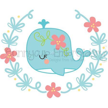 Whale Laurel SVG