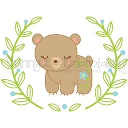 Bear Laurel SVG