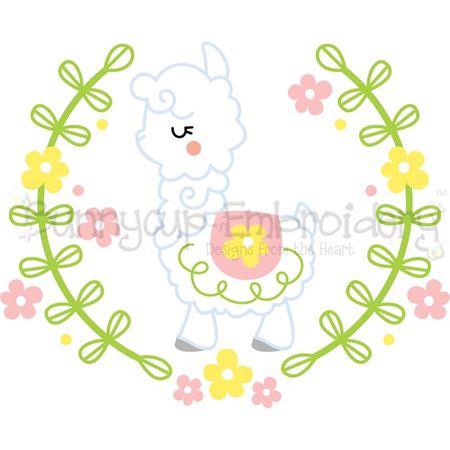 Llama Laurel SVG