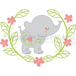 Elephant Laurel SVG