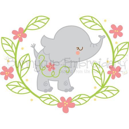 Elephant Laurel SVG