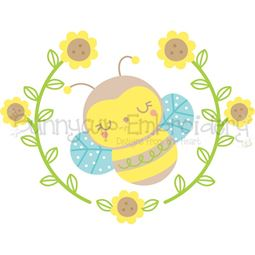 Bee Laurel SVG