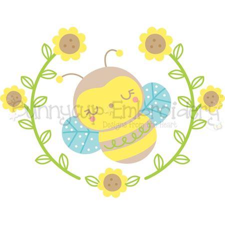 Bee Laurel SVG