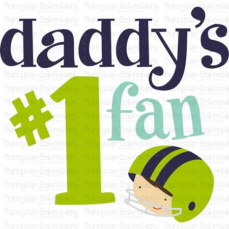 Daddy's Number One Fan SVG