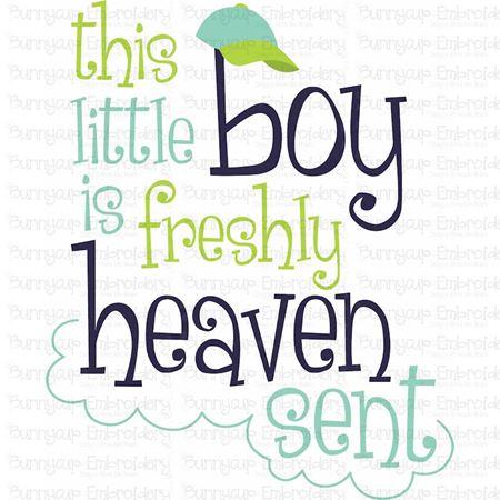 This Little Boy Is Freshly Heaven Sent SVG