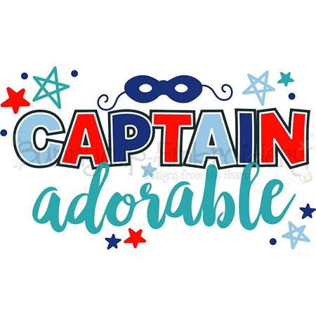 Captain Adorable SVG