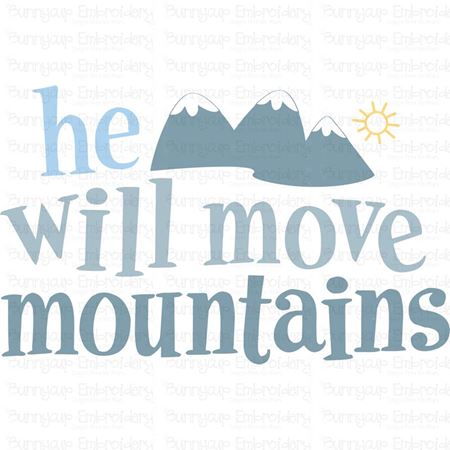 He Will Move Mountains SVG