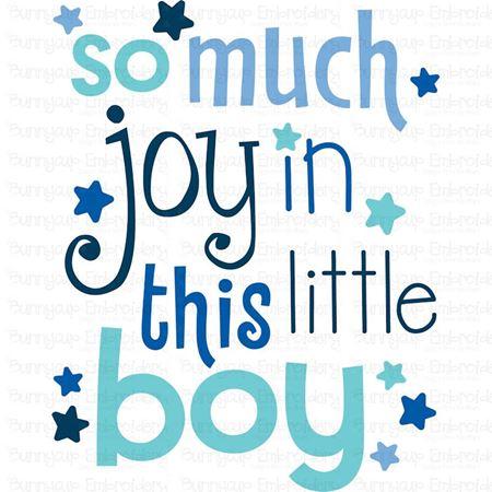 So Much Joy In This Little Boy SVG