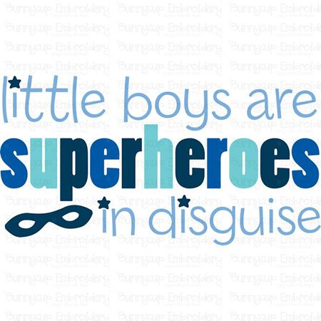 Little Boys Are Superheroes In Disguise SVG