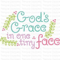 Gods Grace In One Tiny Face SVG