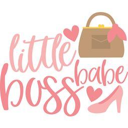 Little Boss Babe SVG