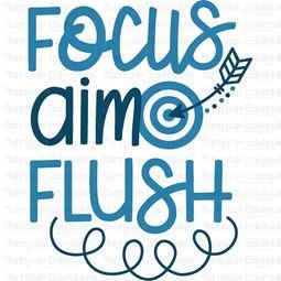 Focus Aim Flush SVG