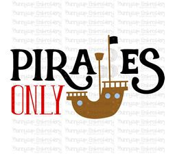 Pirates Only SVG