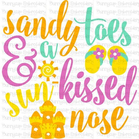 Sandy Toes And A Sun Kissed Nose SVG