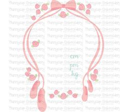 Ballet Birth Announcement Metric pm SVG