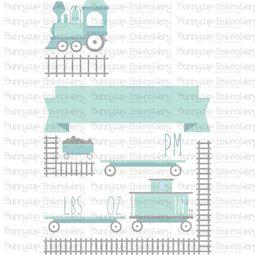 Train Birth Announcement US pm SVG