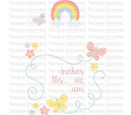 Rainbow Birth Announcement US am SVG