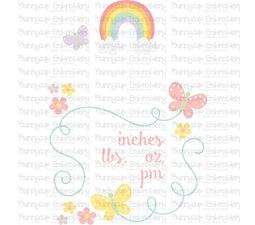 Rainbow Birth Announcement US pm SVG