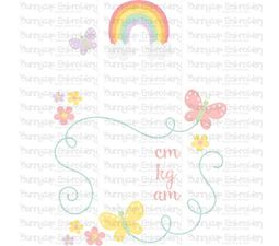 Rainbow Birth Announcement Metric am SVG