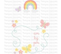 Rainbow Birth Announcement Metric pm SVG