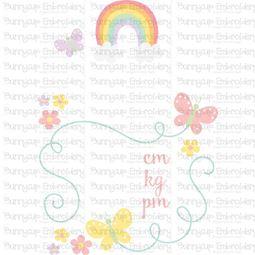 Rainbow Birth Announcement Metric pm SVG