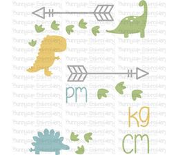 Dinosaur Birth Announcement Metric pm SVG