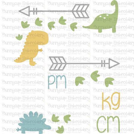 Dinosaur Birth Announcement Metric pm SVG