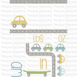 Car Birth Announcement US am SVG